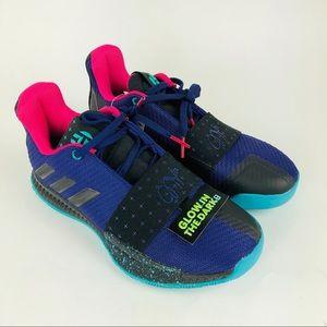 Adidas Harden Vol.3 J Big Kids 5 Shoes Glow Dark